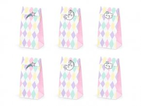 eng pl Unicorn gift bags 8 x 18 cm 6 pcs 30207 2
