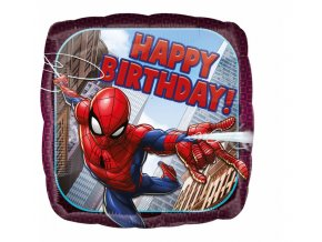 balon foliowy 18 sqr spiderman happy birthday