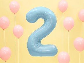 fóliový balón číslo ,,2,, 83cm