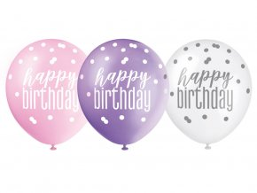 eng pl Happy birthday pastel balloons 30 cm 6 pcs 37907 2