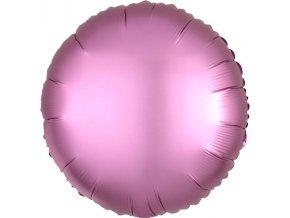 Balón okrúhly ružový satén 43cm