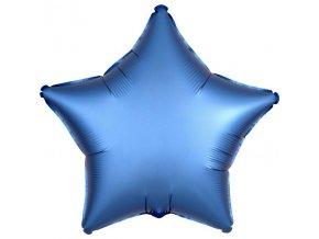 Balón Hviezda satén modrá 48cm