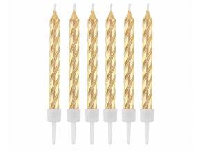 Sviečky Gold 12ks v balení