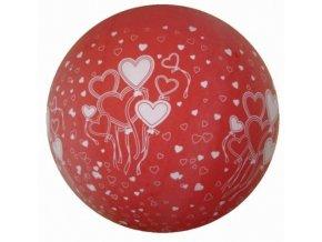 Jumbo balón latexový Red in hearts 1m