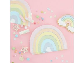 ps 558 pastel rainbow shaped napkin