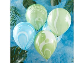 rr 319 blue green marble balloons