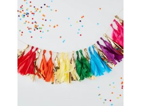 ra 934 rainbow gold tassel garland