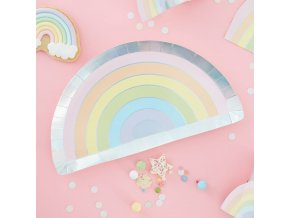 ps 557 pastel rainbow shaped plate