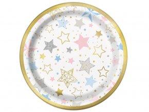 eng pl Twinkle Twinkle Little Star Paper Plates 18 cm 8 pcs 31551 1