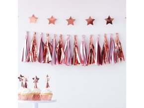 tw 811 pink rose gold tassel garland
