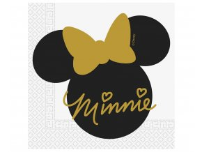 paper napkins minnie gold 33 x 33 cm 20 pcs