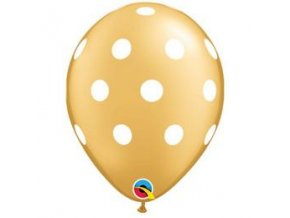 11 inch es big polka dots gold white lufi q52958