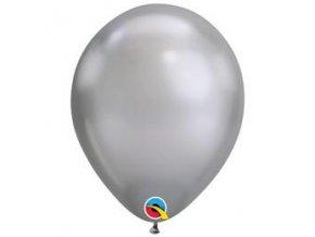 11 inch es chrome silver ezust kerek lufi q58270