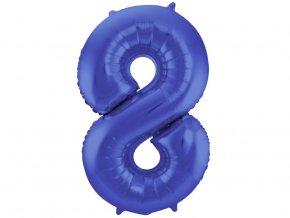 Fóliový balón číslo 8 modrý 86 cm