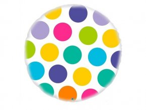 Fóliový balón bodky 47cm