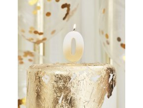 mix 216 gold ombre number 0 candle min