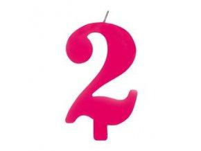 Sviečka číslo dva,,2,, rose gold