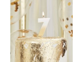 mix 223 gold ombre number 7 candle min 1