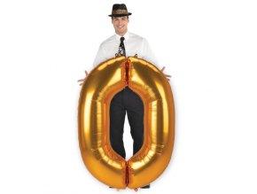 eng pl Number 0 Gold SuperShape Foil Balloon 93 x 134 cm 1 pc 42531 2