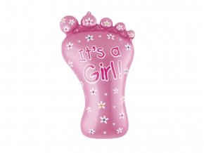 eng pl Baby Girl Foil Balloon 79 cm 53787 2