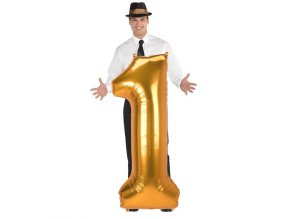 eng pl Number 1 Gold SuperShape Foil Balloon 55 x 134 cm 1 pc 42530 1