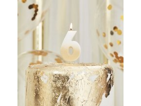 mix 222 gold ombre number 6 candle min