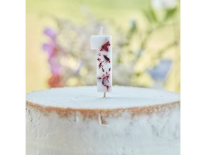 tea 626 number 1 dried flower candle noflame min