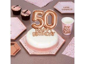 WEBL 773574 Glitz and Glamour Cake Topper Rose Gold 50