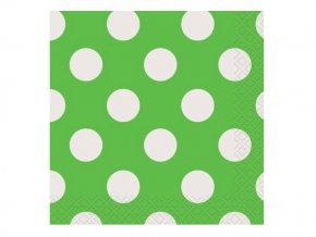 Servitky BODKA zelené 25cm, 16ks v balení
