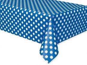 Obrus Royal modrý s bielymi bodkami 1,37x2,74m 1ks v balení