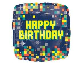 Fóliový balón Craft Happy Birthday 43cm