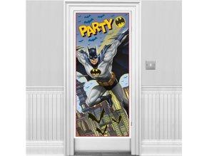 dekorácia na dvere batman party
