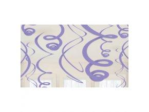 Špirály visiaca dekoracia fialové 12ks v balení