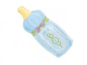 Fóliový balón fľaška modrá 33x79cm