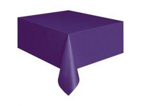 Obrus tmavo fialový 1,37x2,74m 1ks v balení