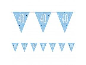 Banner-girlanda vlajková  Modrá ,,40,, Gllit 2,74m