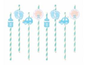 Slamky Baby Shower Boy blue 8ks v baleni