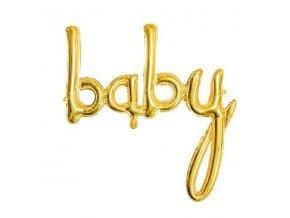 BALONEK foliovy Baby zlato 55FB42M019