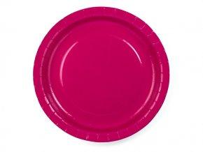 Tanier tmavo ružový 23cm 6ks v balení