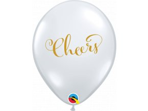 88207 11 inches Simply Cheers Diamond Clear Latexs balloons