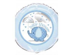 18 blue elephant baby shower foil balloon 18