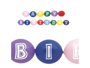 happybirthday ballon girlande