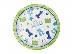 talerzyki doodle 1st birthday luncheon boy 8 sz