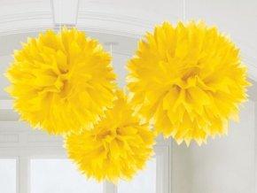 Visiace gule žlté  3ks