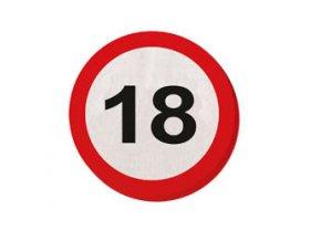 Servitky značka  s číslom ,,18,, červené 20ks v baleni