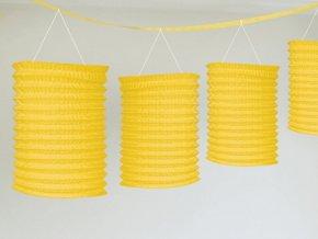 Lampiónová girlanda žltá 365cm