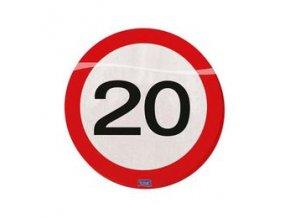 Servitky značka s číslom ,,20,, červené 20ks v balení