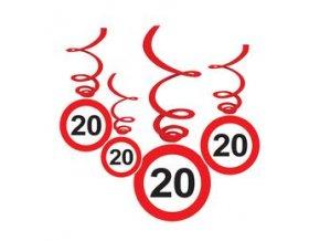 """Špirály s číslom """"20"""""""