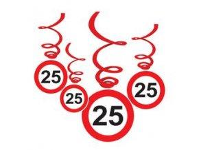 Špirály značka  ,,25,, červené 6ks v balení