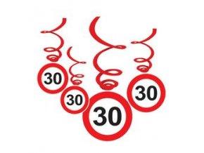"""Špirály značka s číslom """"30"""" červené 6ks v baleni"""